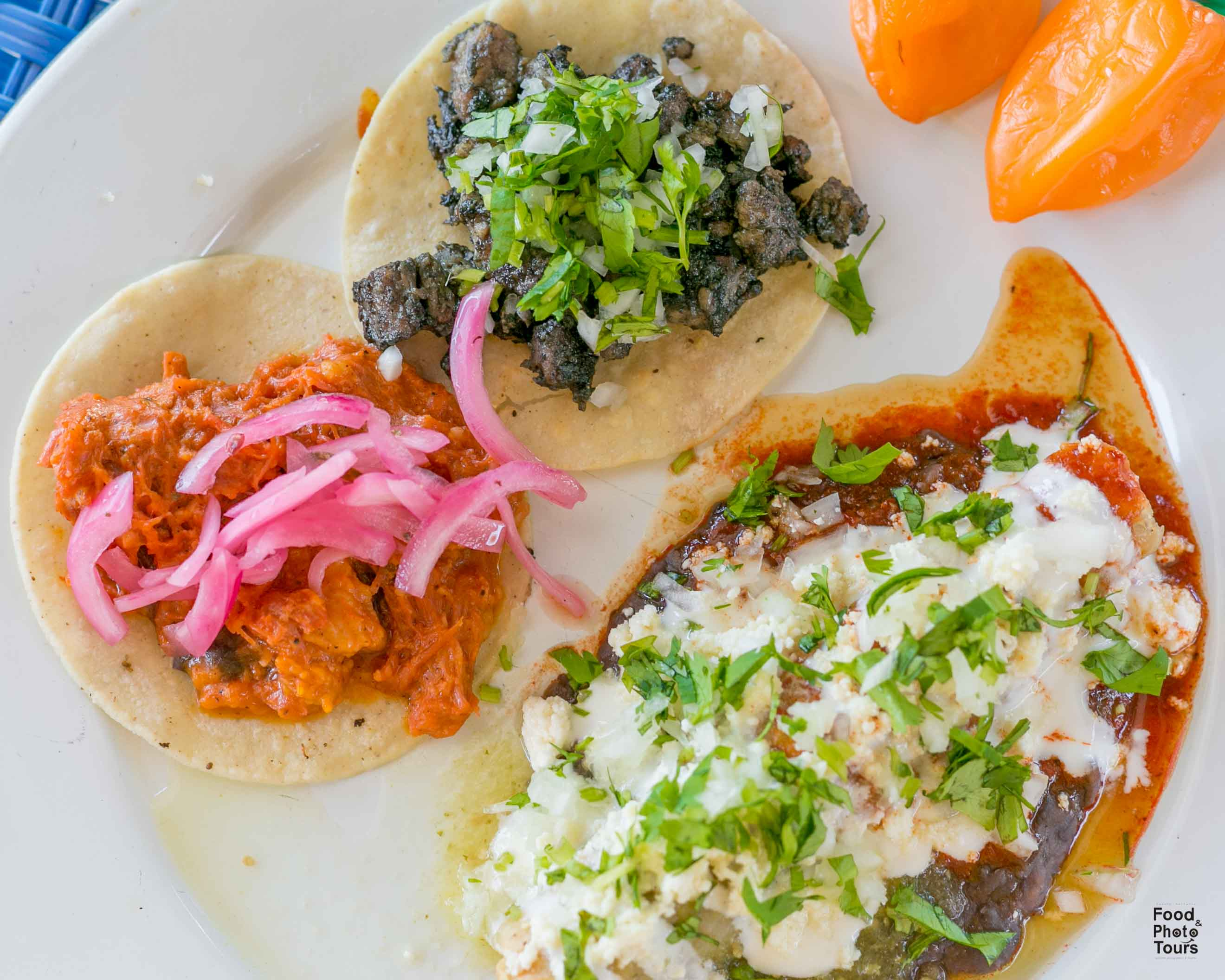 Tacos and Mexican comfort Food offered on a Food Tour in Pitillal in Puerto Vallarta by Vallarta Food Tours and Photo Tours with Star aka Estrellita Velasco